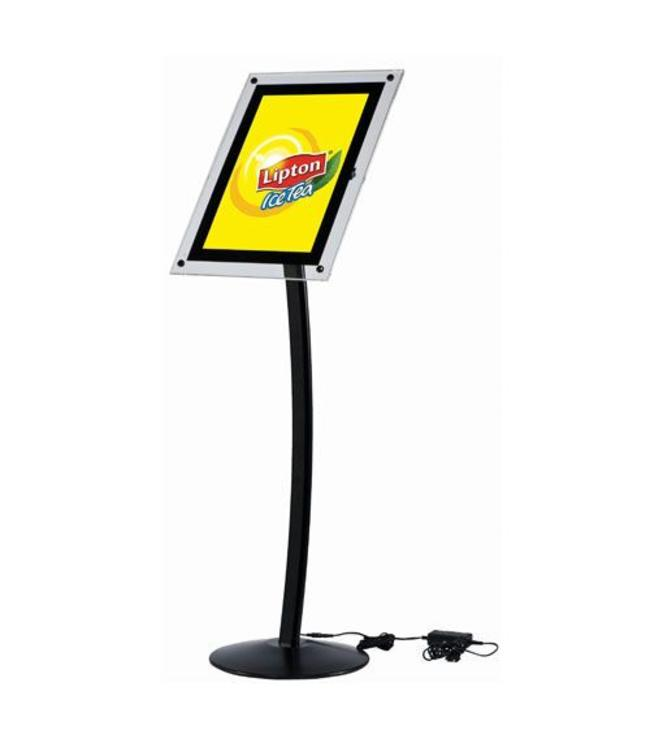 Menubord Design LED Zwart