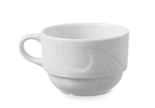 Hendi Hendi Porcelain White Coffee cup | 17cl (6 pieces)
