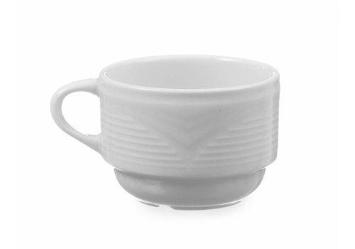 Hendi Porselein Cappuccinokop Wit | 230 ml (6 stuks)