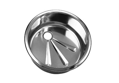 HorecaTraders Round stainless steel sinks | 3 Formats Installation