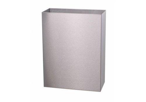 HorecaTraders Abfallbehälter aus Edelstahl Toilette