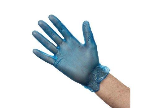 HorecaTraders Vinly handschoenen Blauw | 3 Formaten