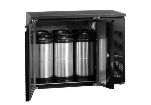HorecaTraders Barrels Cooler Black