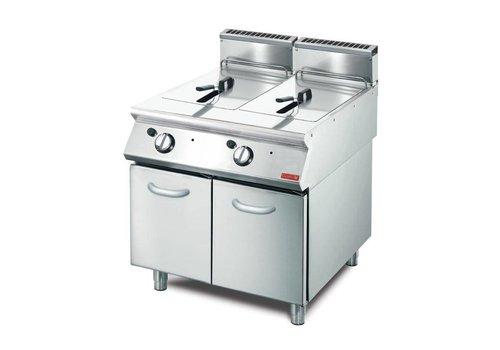Gastro-M Gas fryer 2 x 13L | 85 x 80 x 70 cm | 20,4kW