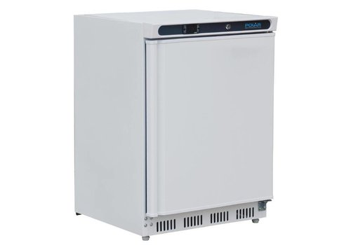 Polar Mini-Kühlschrank weiß mit Schwingtür Digitalanzeige 150 Liter