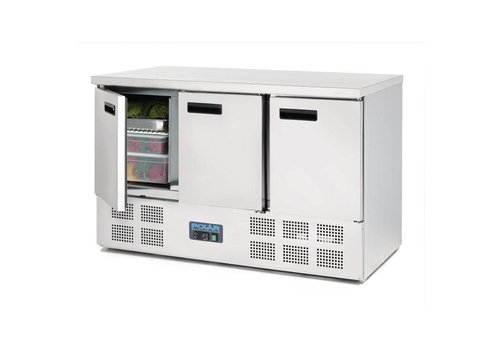 Polar Kühlwerkbank SS | 88 x 137 x 70 cm