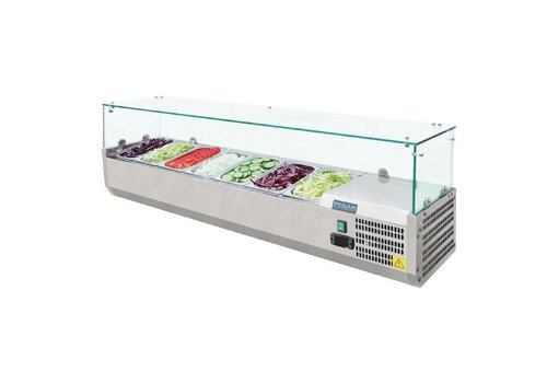 Polar Set up refrigerator display case 7 x GN1 / 4