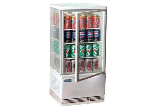 Polar Kompakter weißer Kühlschrank 68 Liter - viel für die kleinen