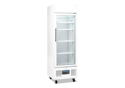 Polar Soft drinks Refrigerator with glass door and wheels