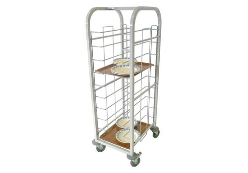 HorecaTraders Steel Tray Trolley 134 (H) x49 (b) x58 (D) cm