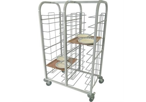 HorecaTraders Steel Tray Trolley Double 150 (H) x110 (b) x41 (D) cm
