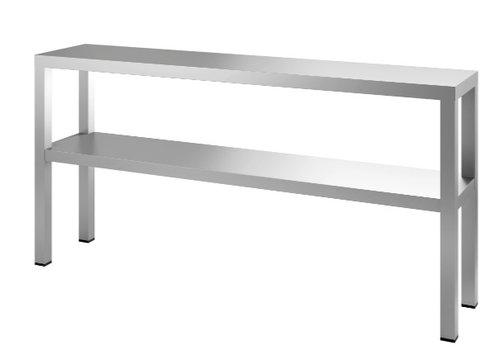 HorecaTraders Etagere Double 160x35x65 cm (WxDxH)