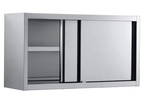 Combisteel Edelstahl Wandschränke mit Schiebetüren 140x40x65 cm