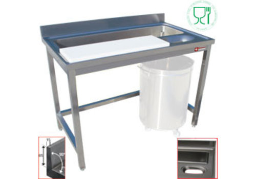 Diamond Stainless Steel Sink with work space