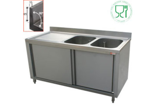 Diamond Stainless Steel Sink | 1 tub right | 200x70x88 cm
