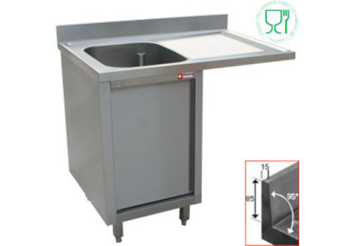 Diamond Sink with one bowl left | Stainless Steel | 140x70x88 cm