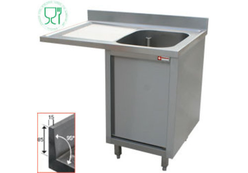 Diamond Sink with one bowl | cabinet with revolving door | 140x70x88 cm