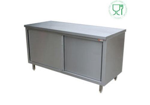 Diamond Steel Workbench with Sliding | (H) 70cm