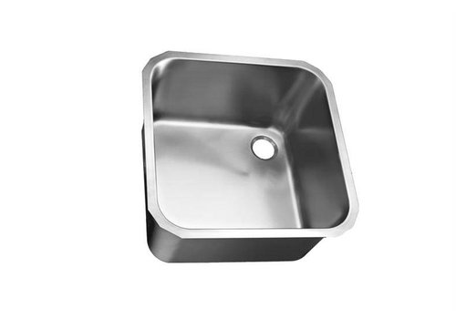 HorecaTraders Square stainless steel sinks without overflow 9 Formats