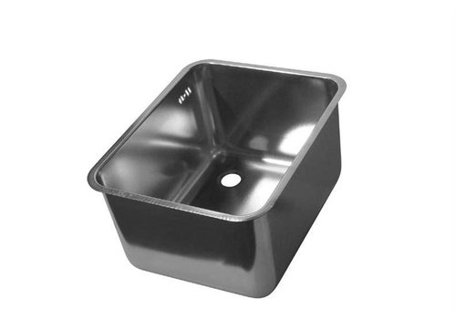 HorecaTraders Stainless steel Rectangular Sinks with overflow 12 Formats