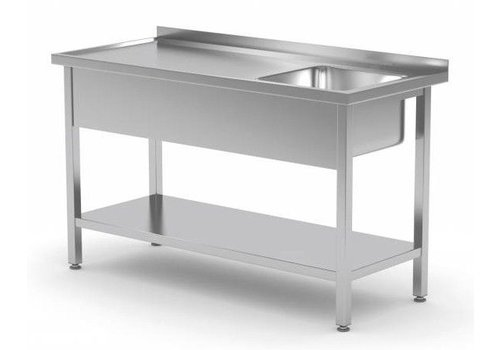 Combisteel Stainless steel sink Professional 3 Formats Sink right