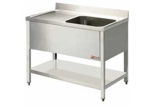 Combisteel Stainless steel rinse table Professional 2 Formats bucket right