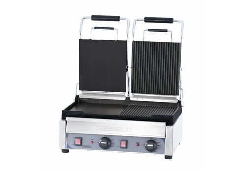 Casselin Dubbele Contact Grill Glad/Geribbeld | 490 x 520mm