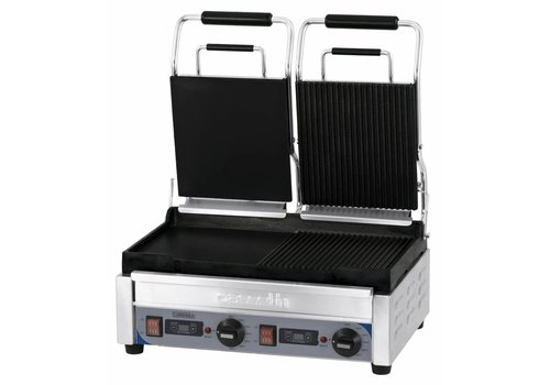 Casselin Double stainless steel Contact Panini Grill | Smooth / grooved