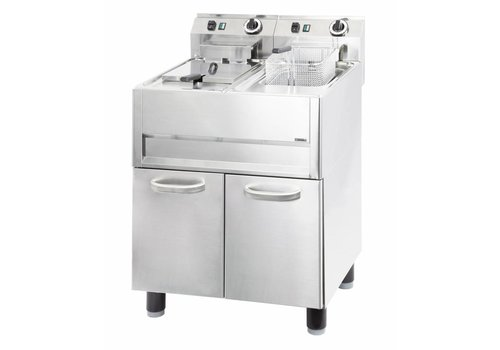 Casselin Stainless Steel Electric Fryer | 2x13L