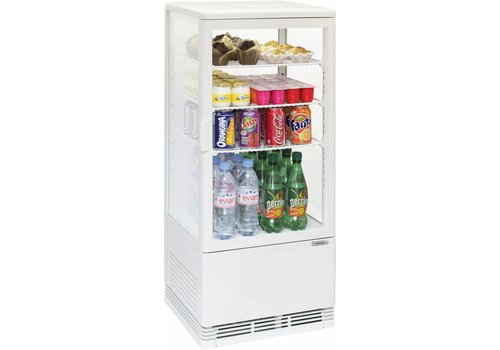 Casselin Mini refrigerated display case 78L white