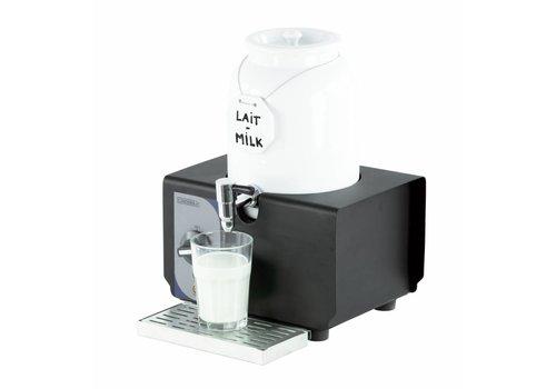 Casselin Warme Milch Spender aus weißem Porzellan | 4 Liter