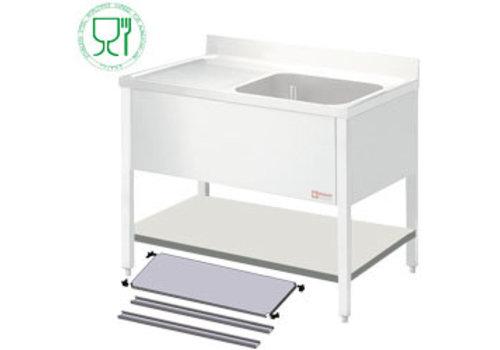 Diamond Edelstahl-Regal für Wasch- oder Spülbecken | 140x70x4cm