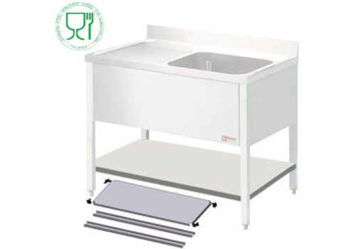 Diamond Stainless steel shelf for Sink | 120x60x4cm