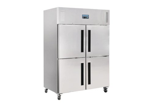 Polar Freezer Stainless Steel Doors 2x2 1200 liters with wheels