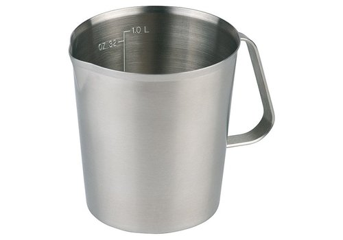 HorecaTraders Measuring cup stainless steel   3 formats