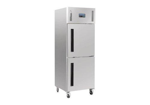 Polar Gastro-Kühlschrank auf Rädern Edelstahl | 600 Liter