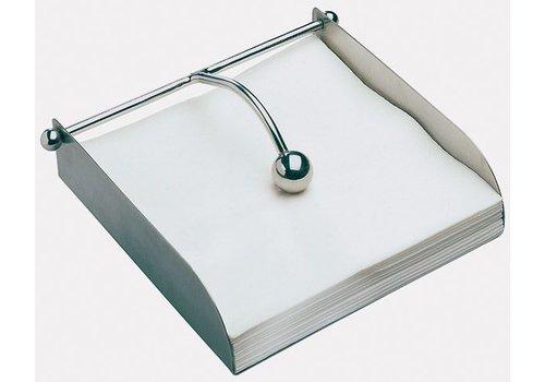 HorecaTraders Stainless Steel Napkin Holder | 17x17x5cm