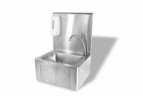 HorecaTraders Kleines Waschbecken mit Kniebedienung Best verkauft