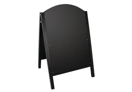 Olympia Stoepbord mit schwarzem Metallrahmen | 66x67x (H) 103cm