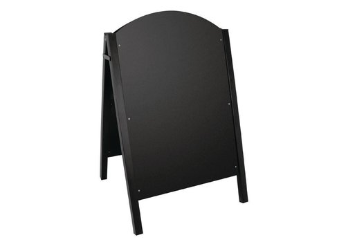 Olympia Stoepbord Zwart met Metalen Frame | 66x67x(H)103cm