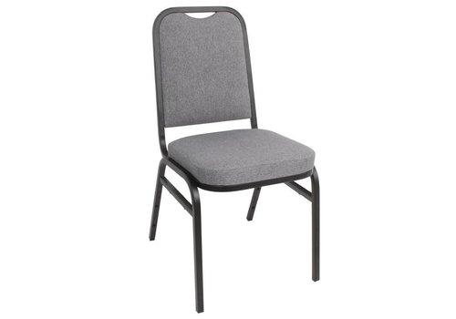 HorecaTraders Bolero Banquet Chair Gray Steel | 4 pieces