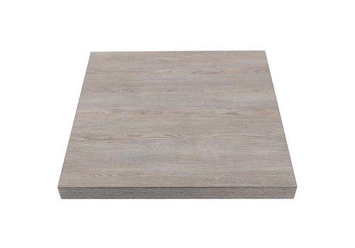 Bolero Quadratische Tischplatte Vintage Holz | 60 cm