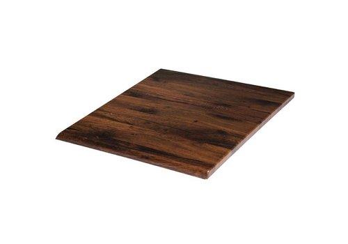 Werzalit Square tabletop Antique Oak | 70 cm