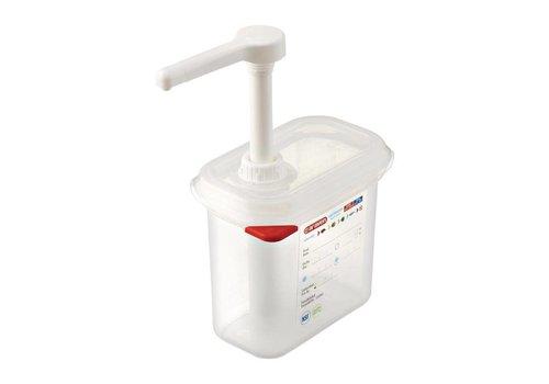 Araven Sausdispenser GN 1/9 transparant - 1,5 Liter