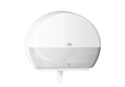 Mini Jumbo Toilet Roll Dispenser | White