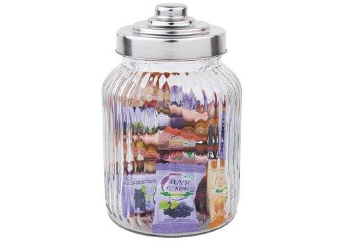 HorecaTraders Olympia-gewelltes Glas Sonservenpot | 90 cl