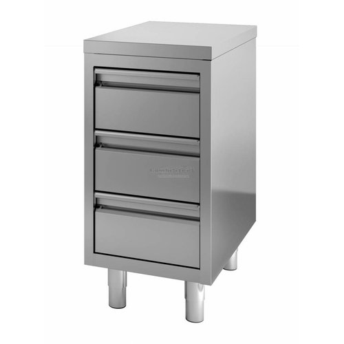 Stainless steel chest of drawers