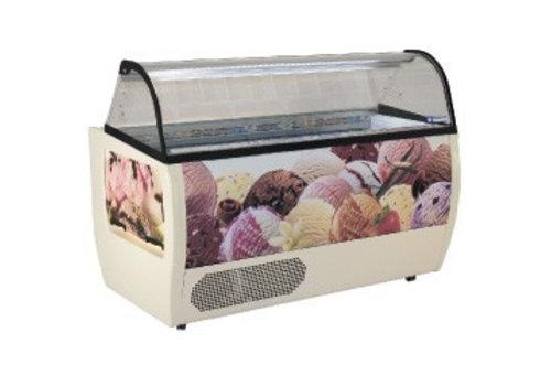 Diamond Scoop ice cream display for Ice Cream 177x93x128 cm | 13 bins