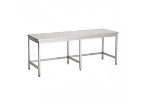 Combisteel Stainless steel worktable Open Frame 800 Line 6 Poots   4 Sizes