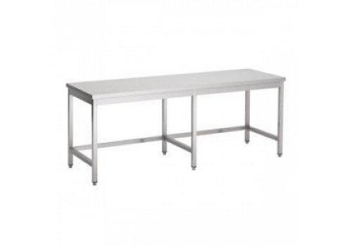 Combisteel Work table Stainless Steel Open Frame 80cm 6 Legs | 4 Formats